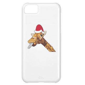 Giraffe christmas santa iPhone 5C case