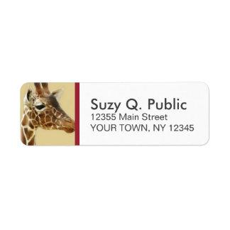 Giraffe Custom Address Labels