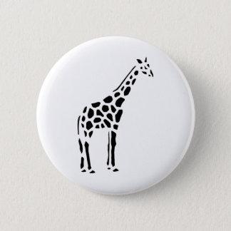 Giraffe Cute Cartoon Animal 2 Inch Round Button