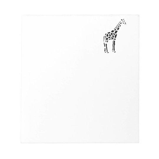 Giraffe Cute Cartoon Animal Notepad