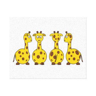 Giraffe Cute Cartoon Canvas Print