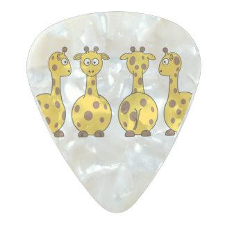 Giraffe Cute Cartoon Pearl Celluloid Guitar Pick