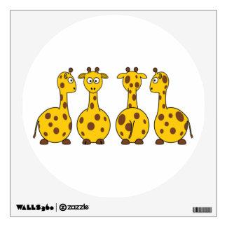 Giraffe Cute Cartoon Wall Sticker