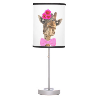 Giraffe cute funny jungle animal nursery kids room table lamp