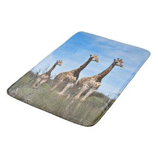 Giraffe Dad Mom and Baby Bath Mat