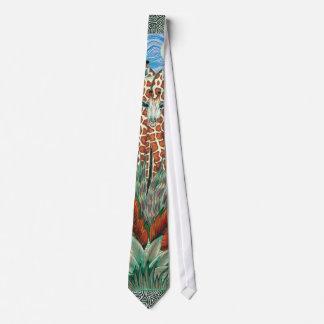 Giraffe design tie