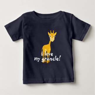 Giraffe design with I love my gruncle! Baby T-Shirt
