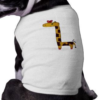 giraffe doggy coverup shirt