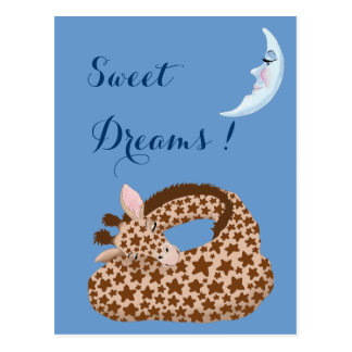 Giraffe Dreams Postcard