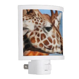 Giraffe eating its food nite light