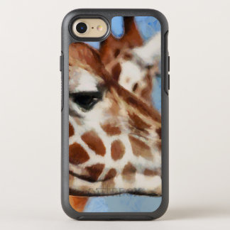 Giraffe eating its food OtterBox symmetry iPhone 8/7 case