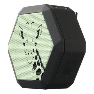 Giraffe Face Silhouette Black Bluetooth Speaker