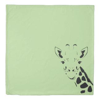 Giraffe Face Silhouette Duvet Cover