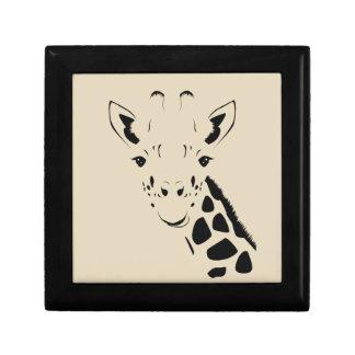 Giraffe Face Silhouette Gift Box