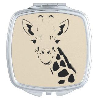 Giraffe Face Silhouette Mirror For Makeup