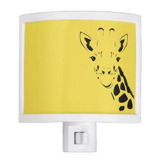 Giraffe Face Silhouette Nite Light