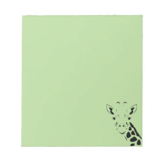 Giraffe Face Silhouette Notepad