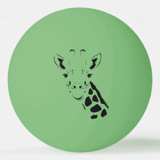 Giraffe Face Silhouette Ping Pong Ball
