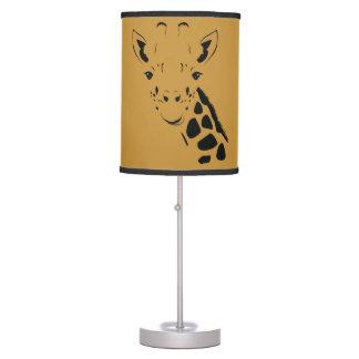 Giraffe Face Silhouette Table Lamp