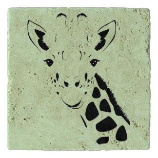 Giraffe Face Silhouette Trivet