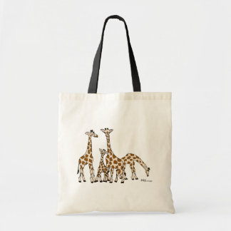 Giraffe Family In Brown and Beige Tote Bag