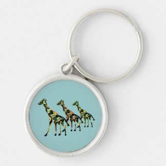 Giraffe Family Outing Keychain