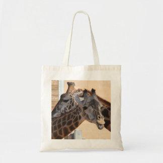 Giraffe Friends on Tote Bag