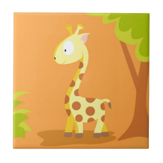 Giraffe from my world animals serie tile