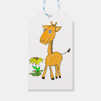 giraffe fun day gift tags