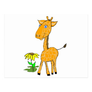 giraffe fun day postcard