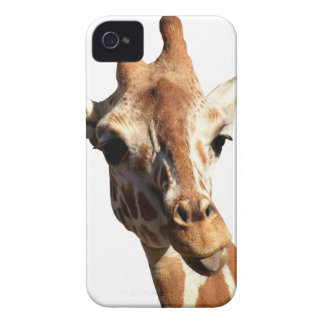 Giraffe Funny Sticking Tongue Out iPhone 4 Case-Mate Cases