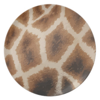 Giraffe Fur  Pattern - animal skin Plate