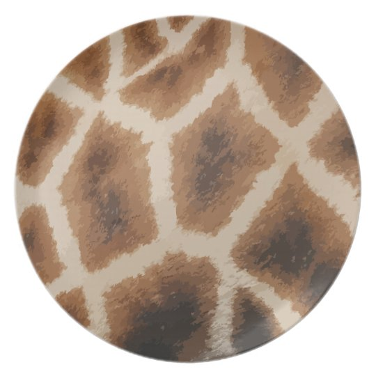 Giraffe Fur  Pattern - animal skin Plate