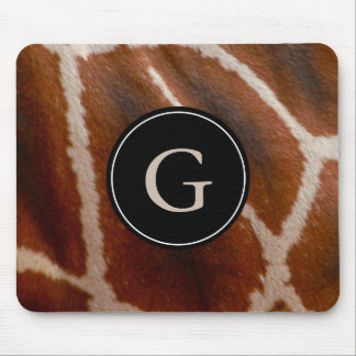 Giraffe Fur Wild Jungle Animal Print | Monogrammed Mouse Pad