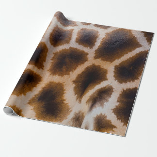 Giraffe fur wrapping paper