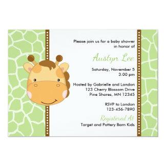 Giraffe Gender Neutral Baby Shower Invitations