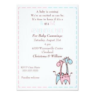 Giraffe Gender Reveal Invitation