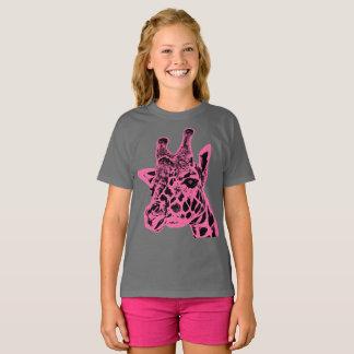 """Giraffe"" Girls' Hanes TAGLESS® T-Shirt"