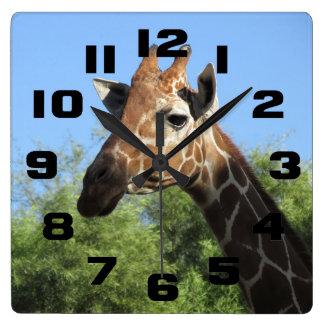 Giraffe Head Clock