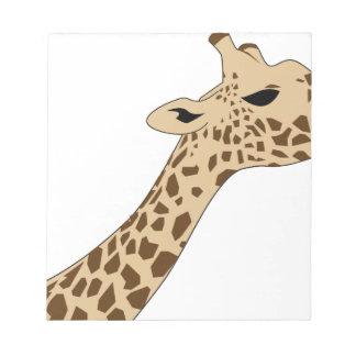 Giraffe Head Notepad