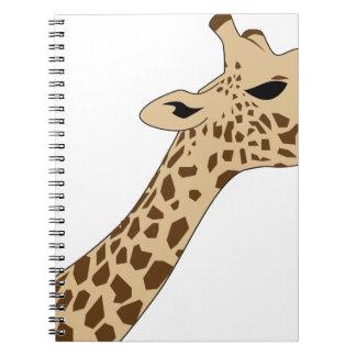 Giraffe Head Spiral Notebook