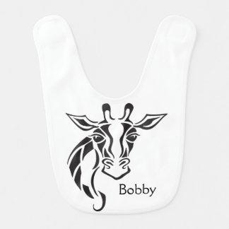 Giraffe Head Tattoo Art Baby Bibs