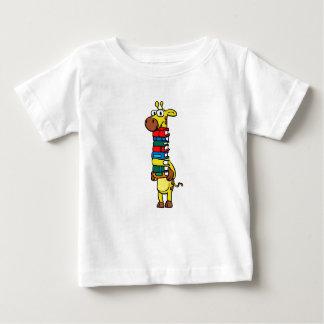 Giraffe holding books baby T-Shirt