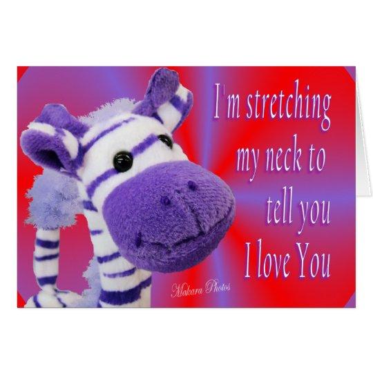 Giraffe I love U card-customize Card