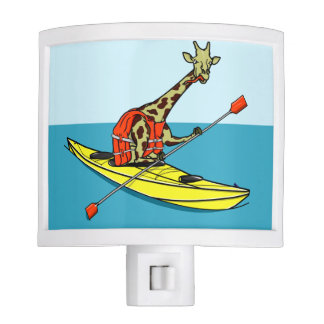 Giraffe in a kayak nite lite
