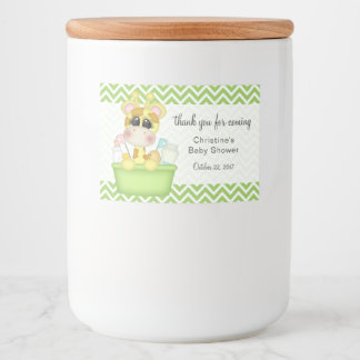 Giraffe in Bath Tub Baby Shower Thank You Food Label