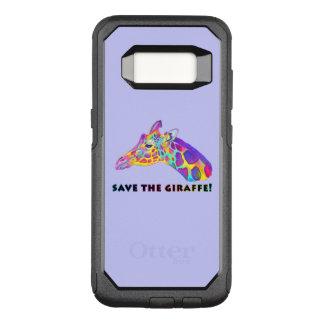 Giraffe in Colors OtterBox Commuter Samsung Galaxy S8 Case