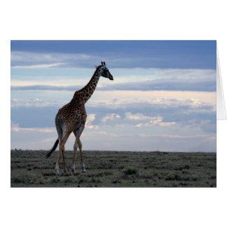 giraffe in maasai mara card