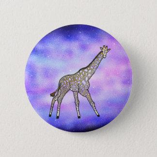 Giraffe in Space 2 Inch Round Button