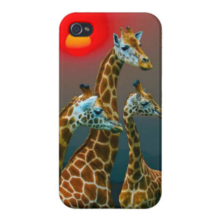 Giraffe in Sunset iPhone Case Covers For iPhone 4